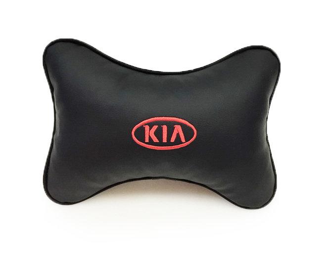 Подушка на подголовник из экокожи KIA