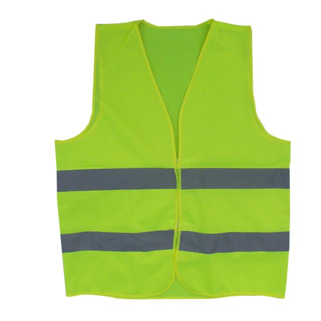Жилет сигнальный со светоотражающими полосами, салатовый, р-р XXXL (на верхнюю зимнюю одежду)