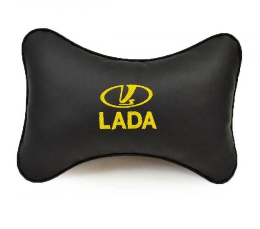 Подушка на подголовник из экокожи LADA