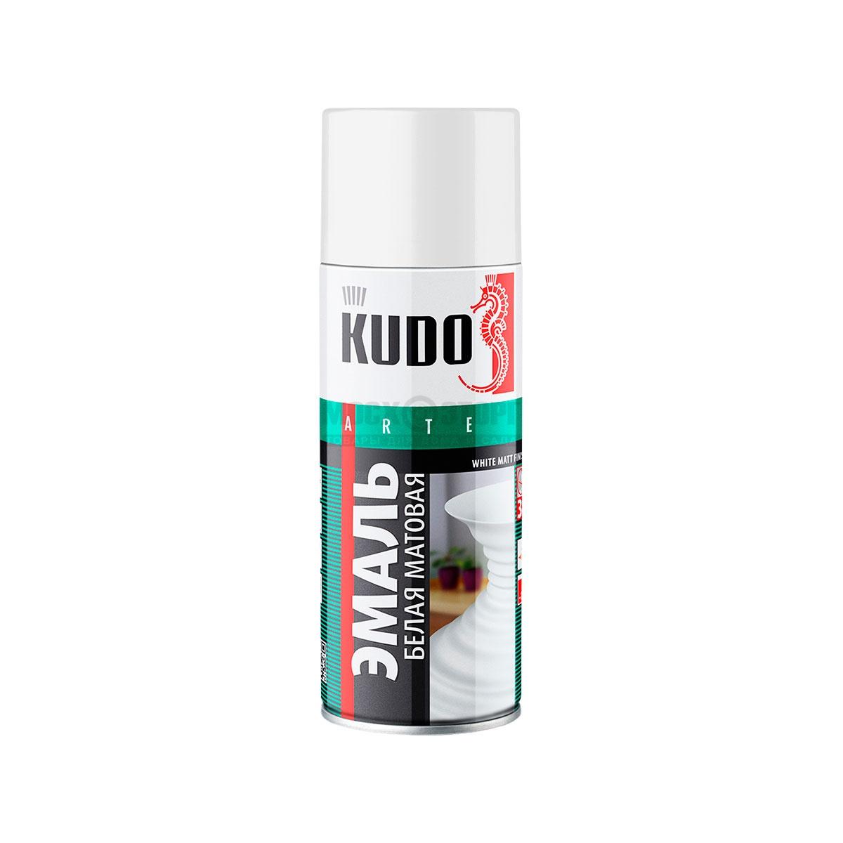 """Краска """"KUDO"""" белая матовая (520 мл) (аэрозоль)"""
