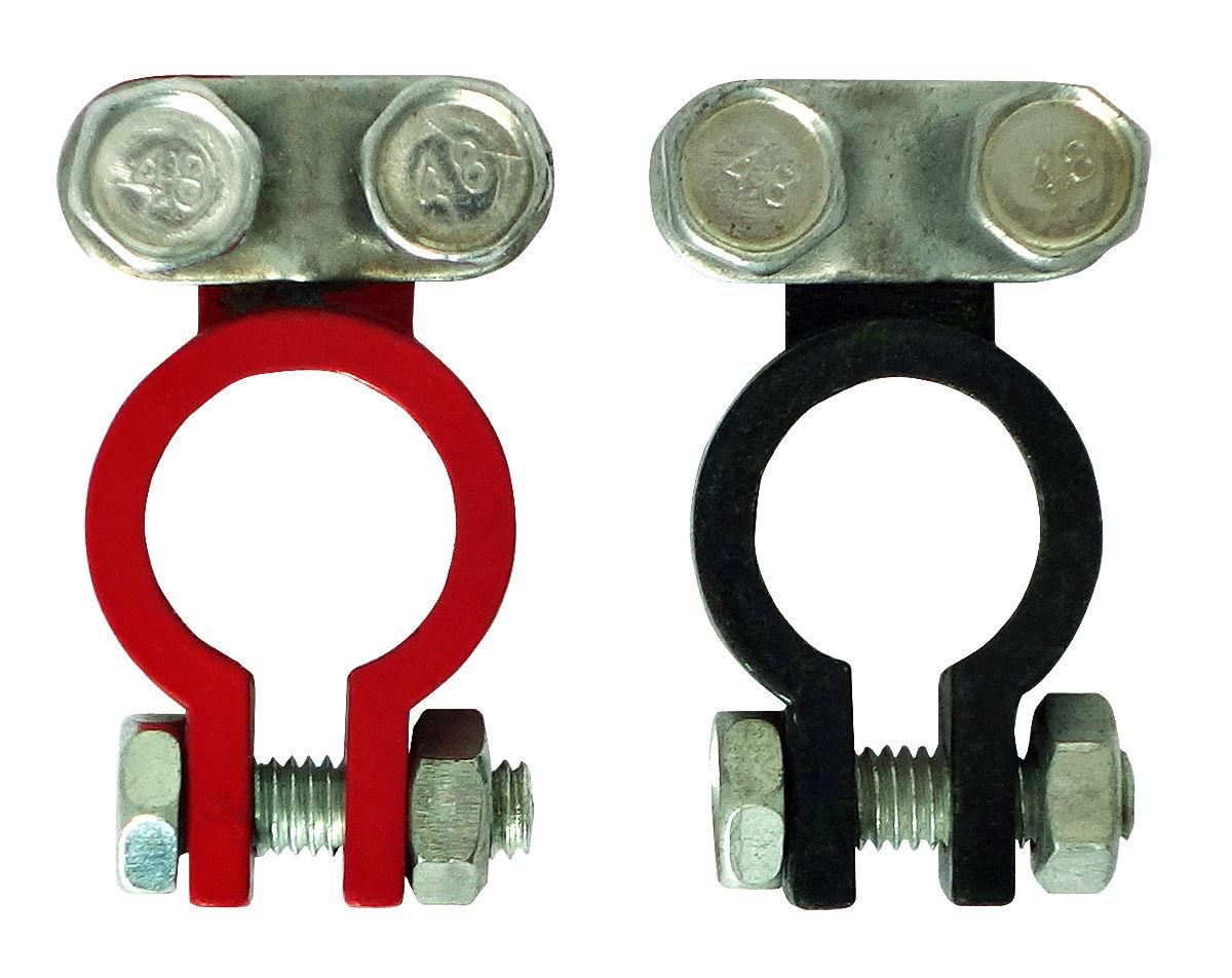 Клемма аккумулятора красная+черная (6-12 В), 2 шт в блистере
