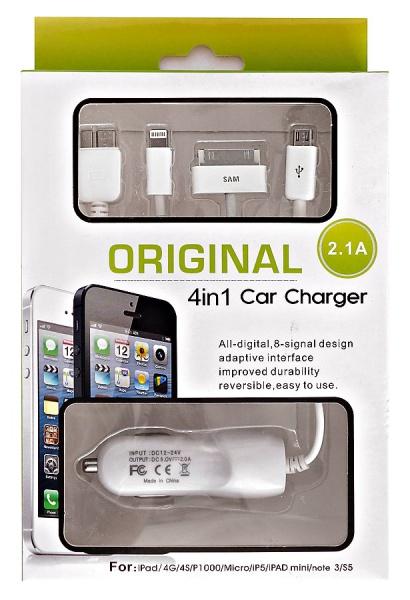 Зарядное устройство для iPad/4G/4S/P1000/Micro/iP5/iPad mini/note 3/S5 (2.1 A)