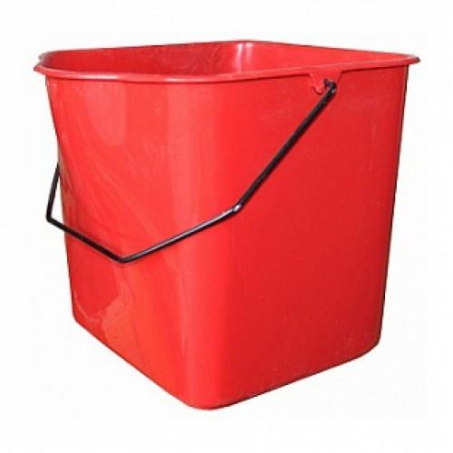Ведро 23л для двойной уборочной тележки на 46л, пластик, красное