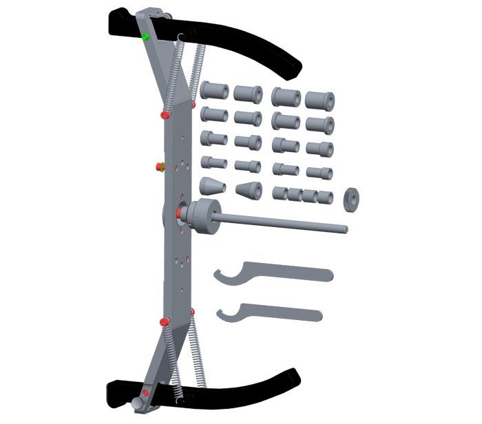 Дополнительный комплект Luxe к адаптеру для балансировки мотоциклетных колес SIVIK Moto КС-225-01