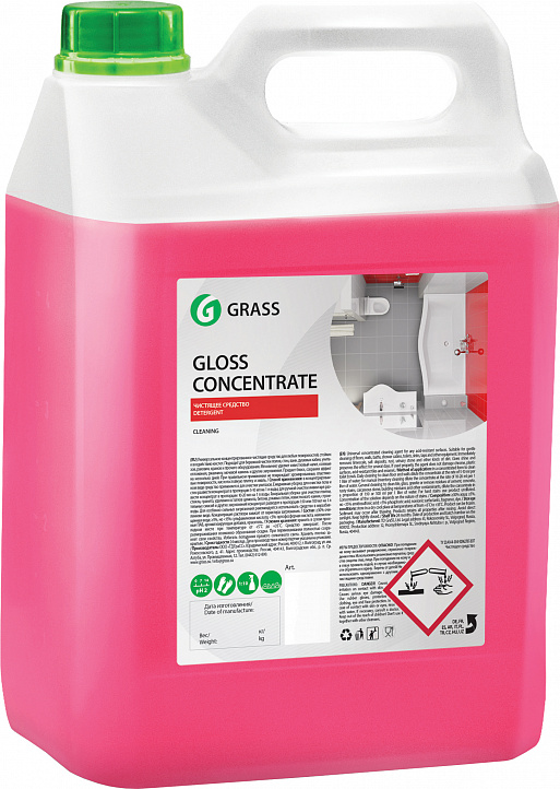 """Концентрированное чистящее средство """"Gloss Concentrate"""" 5 литров"""